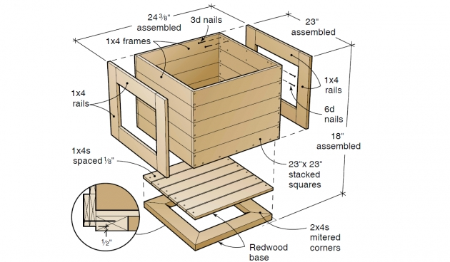 Amazing Planter Box Plans Free Photo
