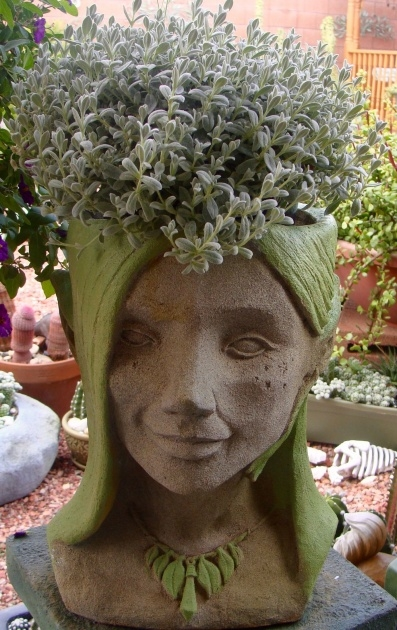 Amazingly Concrete Head Planter Photo