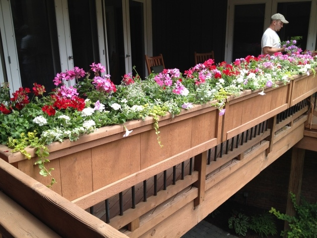 Amazingly Deck Railing Planter Boxes Image
