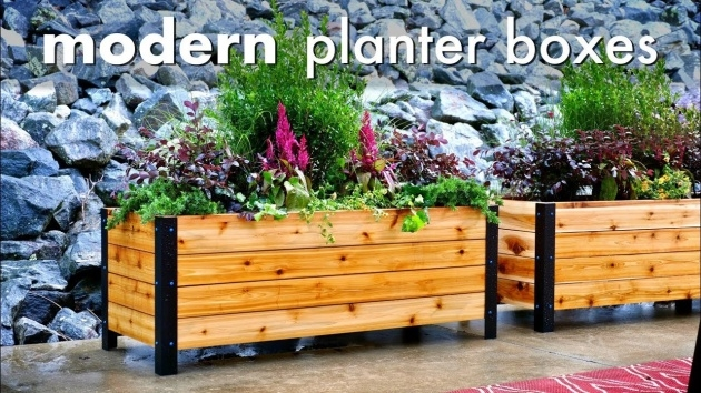 Amazingly Wooden Planter Box Diy Photo