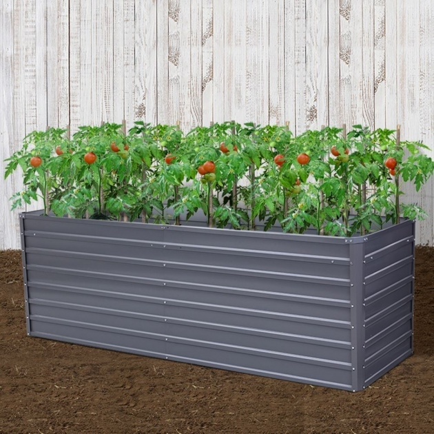 Awesome Galvanised Steel Planter Photo