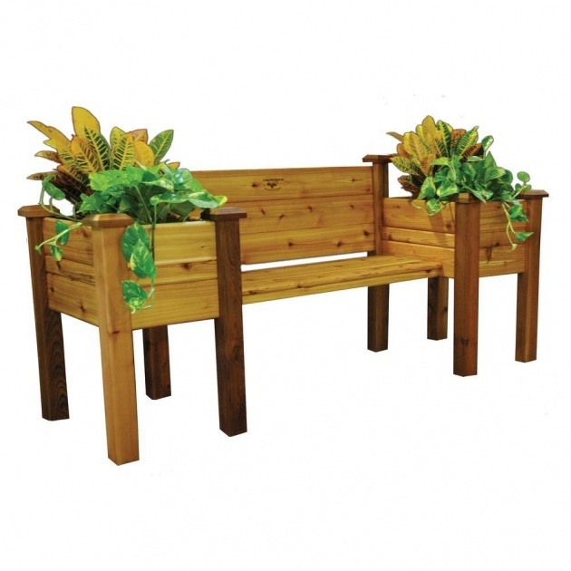Awesome Planter Bench Picture