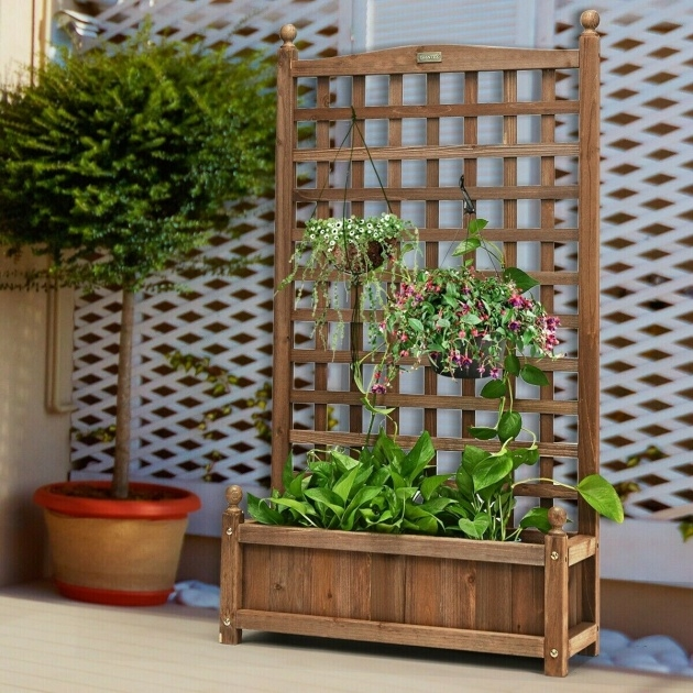 Awesome Planter Box With Trellis Picture
