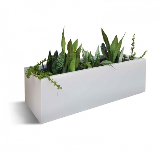 Awesome Rectangular Indoor Planter Picture