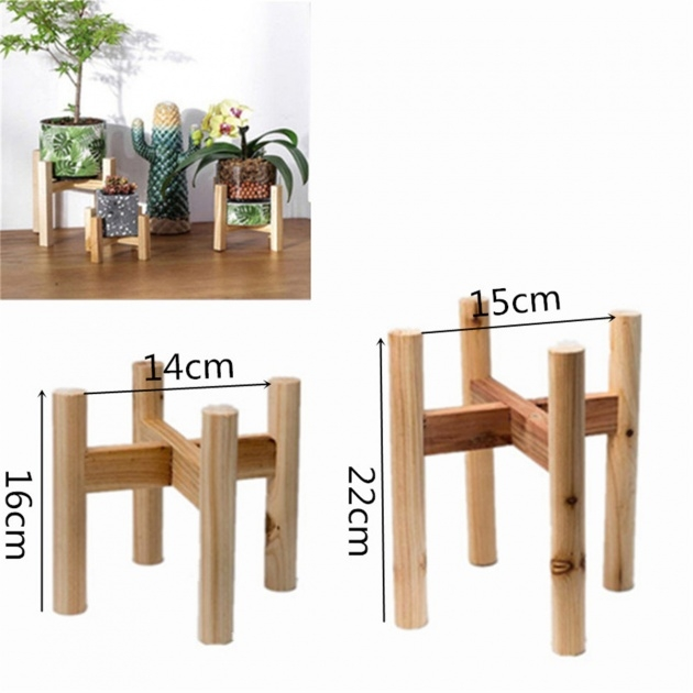 Awesome Wooden Plant Stand Picture