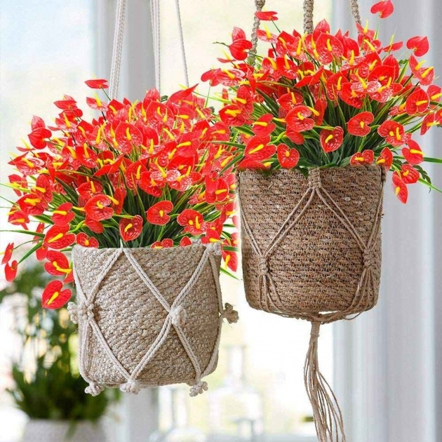 Best Artificial Hanging Plants For Outside Photo
