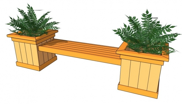Best Cool Planter Box Bench Image