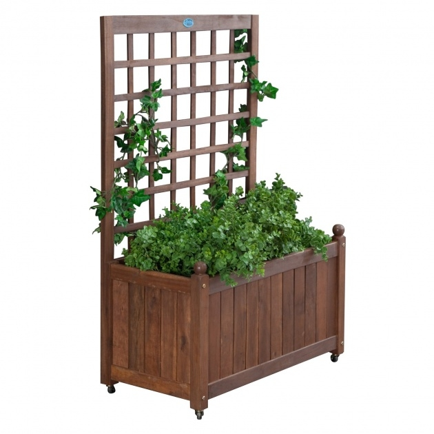 Best Cool Planter Box With Trellis Image