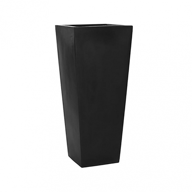 Cool Black Square Planter Image