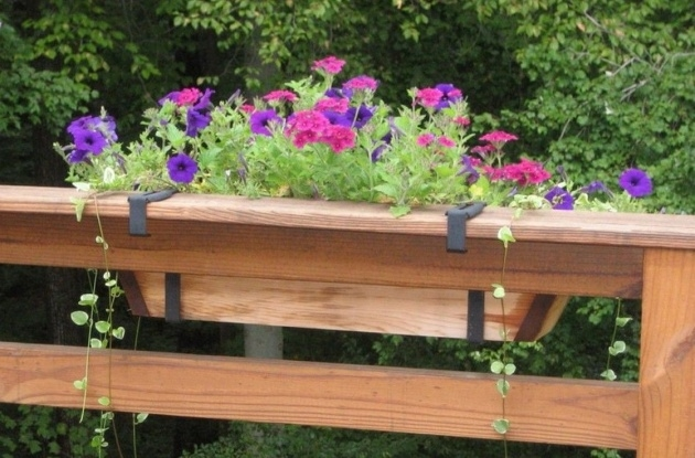 Cool Deck Railing Planter Boxes Image