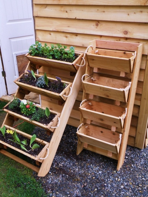 Cool Vertical Vegetable Garden Planters Image