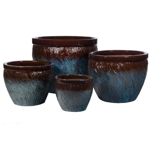 Creative Glazed Plant Pots Photo