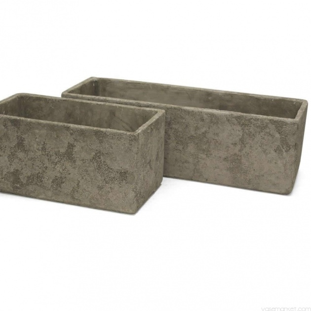 Creative Rectangular Concrete Planters Photo