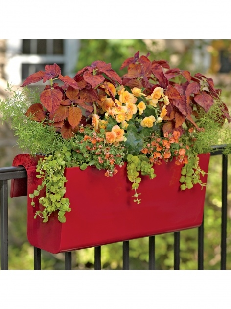 Easy Balcony Railing Planter Photo