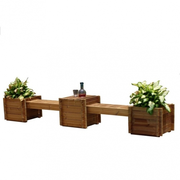 Easy Planter Bench Photo