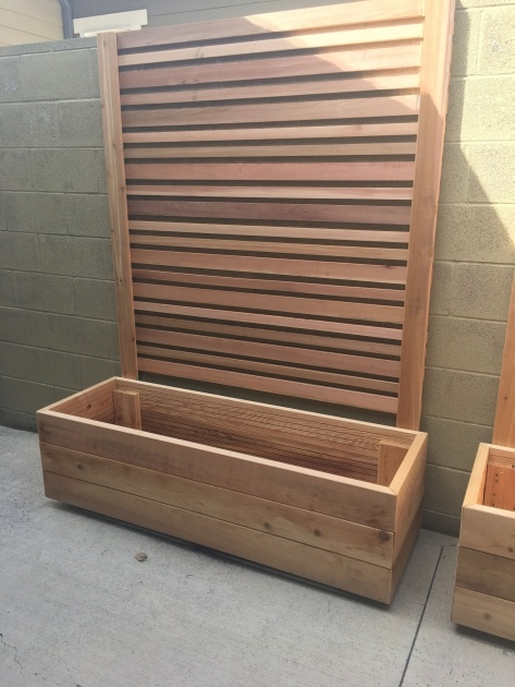 Easy Planter Box With Trellis Picture