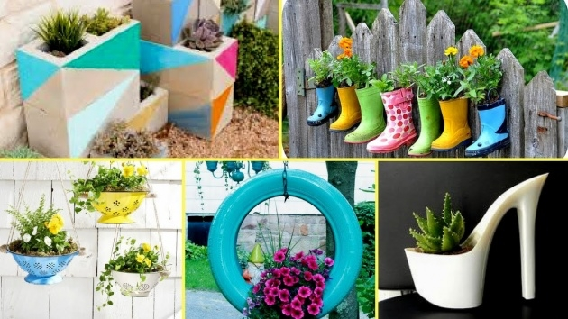 Easy Unique Planter Ideas Photo