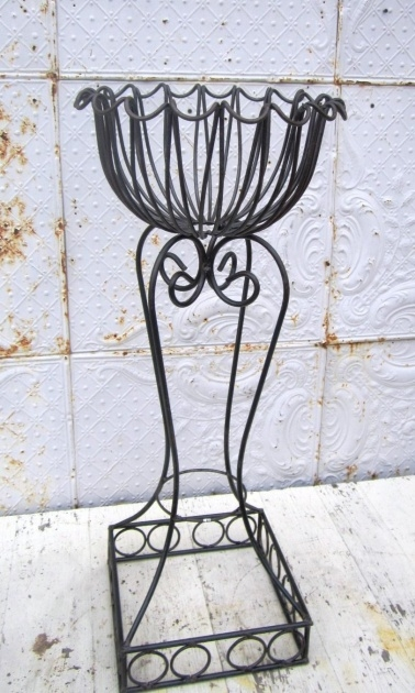 Easy Wrought Iron Plant Stands Outdoor Picture
