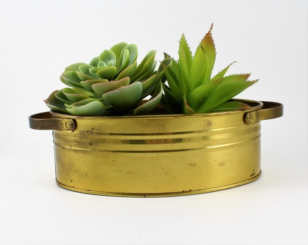 Fantastic Brass Plant Pot Picture