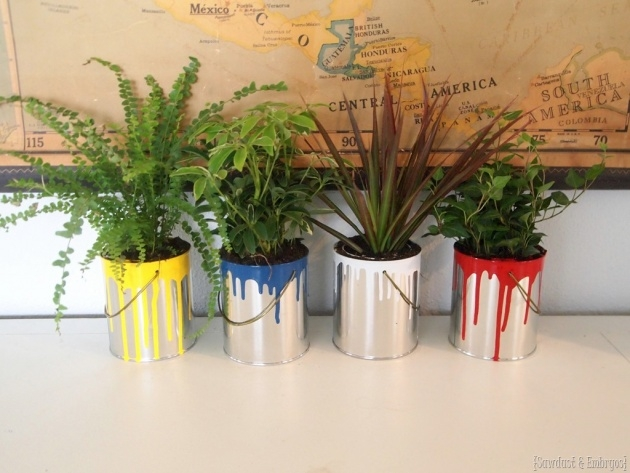 Fantastic Paint Can Planter Picture