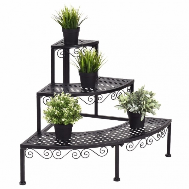 Fascinating Corner Plant Stand Photo