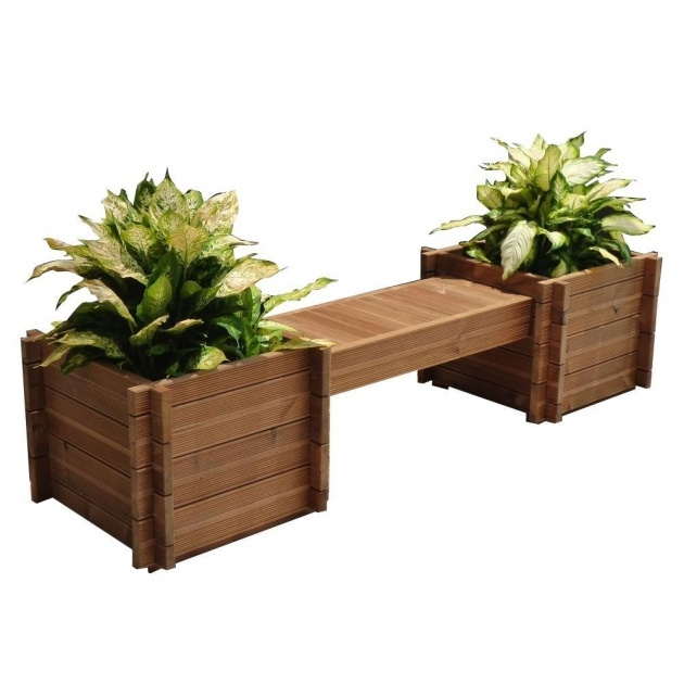 Fascinating Planter Bench Photo
