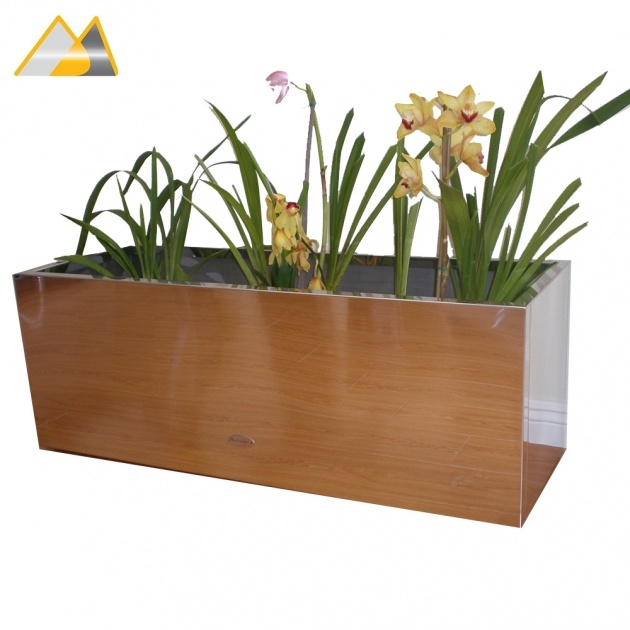 Fascinating Rectangular Indoor Planter Photo