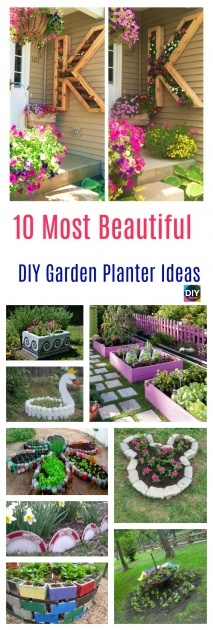 Gallery Of Diy Garden Planter Ideas Image
