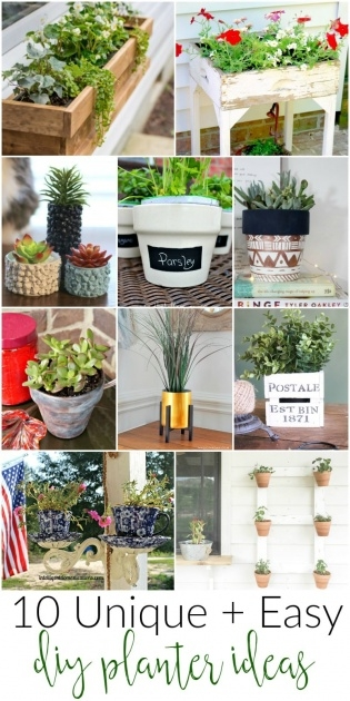 Gallery Of Diy Planter Ideas Picture