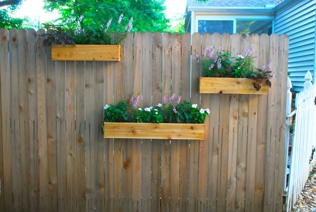 Gallery Of Fence Hanging Planters Photo