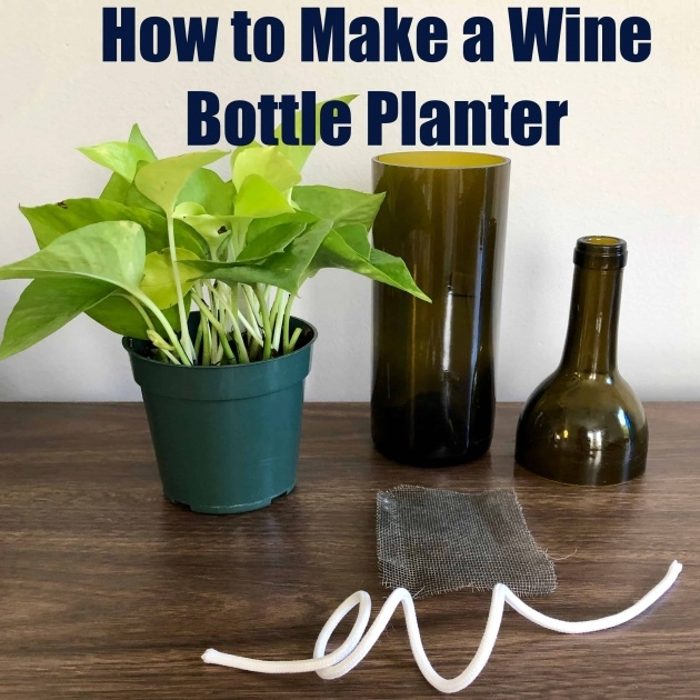 Gallery Of Wine Bottle Planter Picture