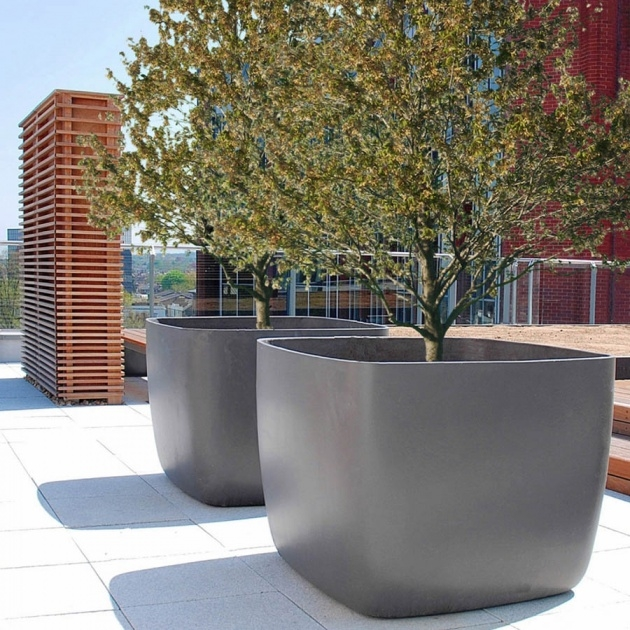 Good Concrete Outdoor Planters Photo