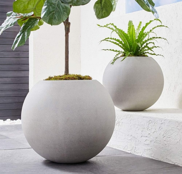 Good Diy Large Concrete Planters Image