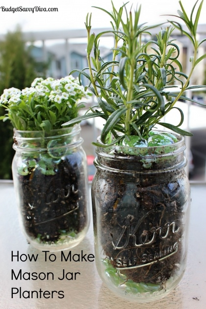 Good Mason Jar Planter Picture