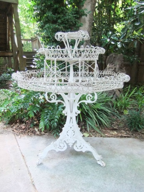 Good Wrought Iron Plant Stands Outdoor Image