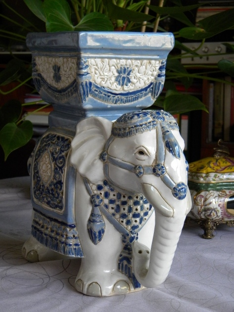 Gorgeous Ceramic Elephant Planter Image