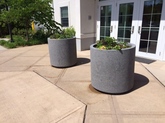 Gorgeous Concrete Outdoor Planters Image
