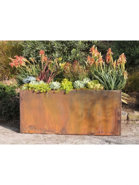 Gorgeous Corten Steel Planters Photo
