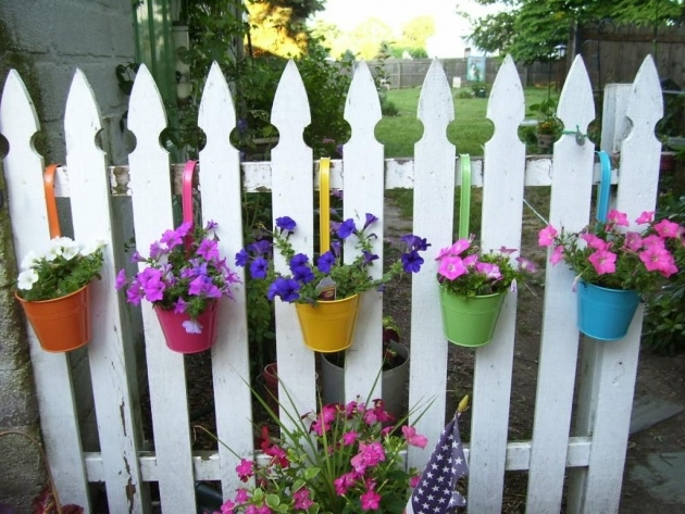 Gorgeous Fence Flower Planters Picture