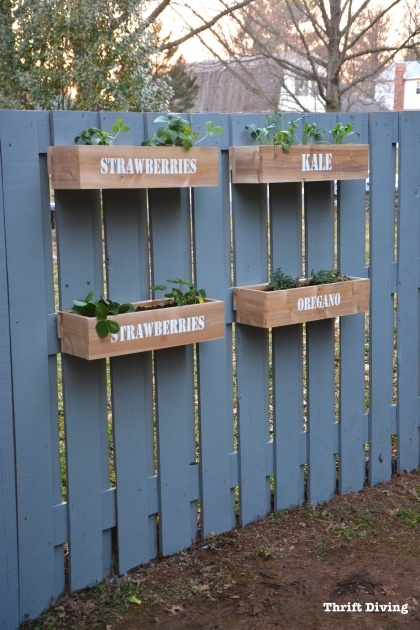 Gorgeous Fence Hanging Planters Picture
