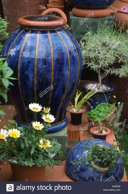 Gorgeous Glazed Plant Pots Picture