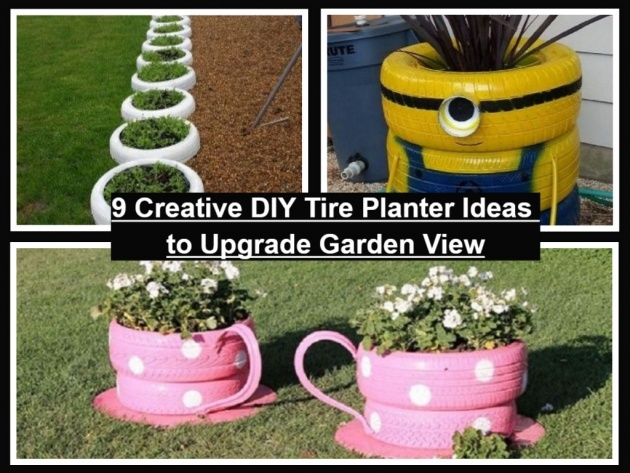 Gorgeous How To Make Tire Planters Picture