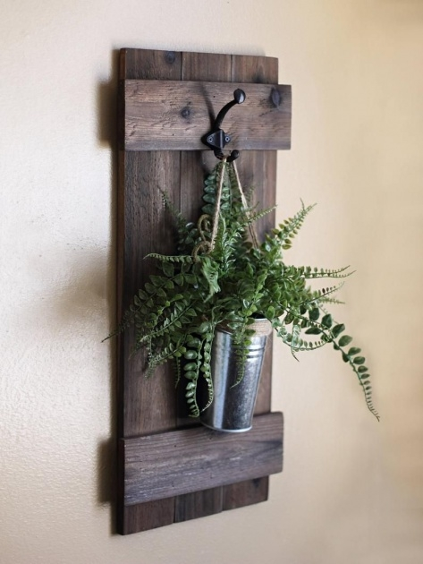 Gorgeous Rustic Wall Planter Image