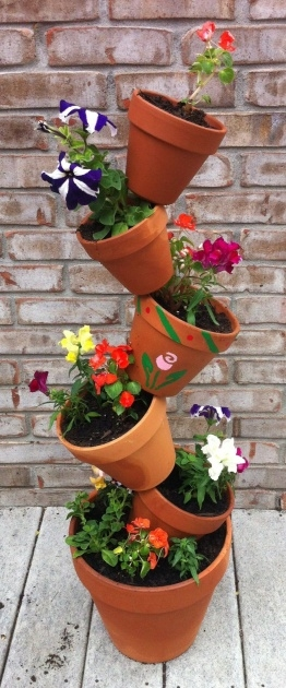 Gorgeous Tower Plant Pots Photo