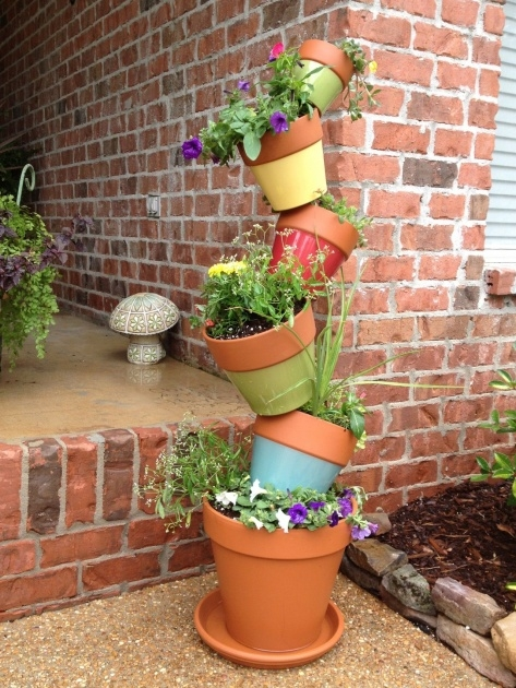 Gorgeous Tower Plant Pots Picture