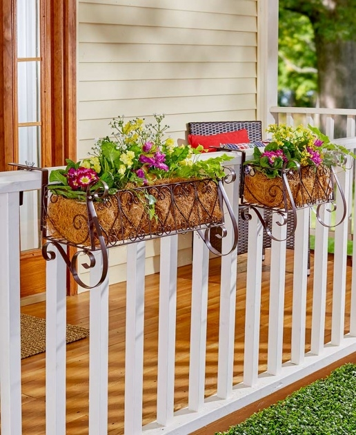 Great Ideas Fence Flower Planters Picture