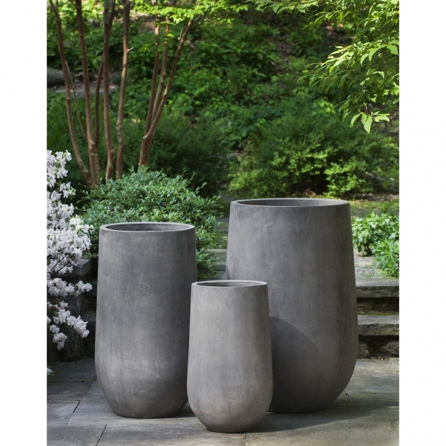 Great Tall Concrete Planters Photo
