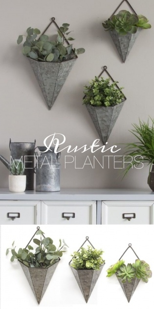 Ideas for Galvanized Wall Planter Image