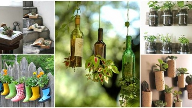 Ideas for Recycled Diy Planters Photo