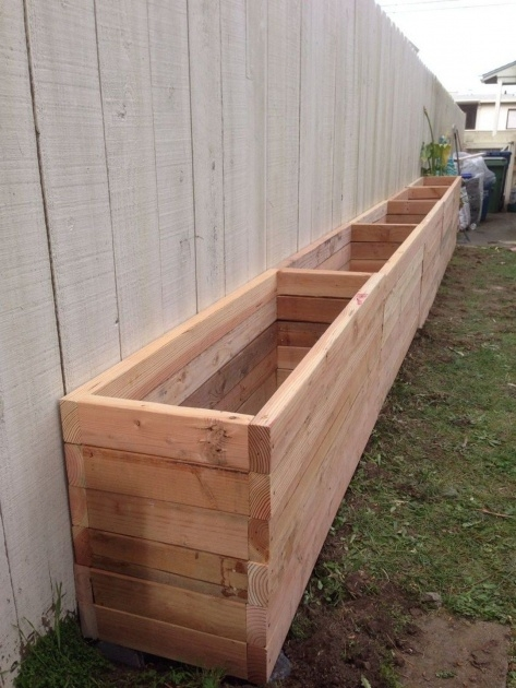 Ideas for Rustic Wooden Planters Picture